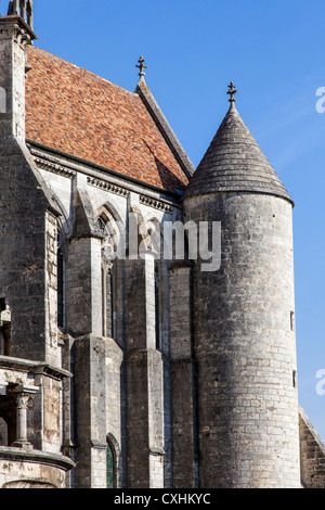 Chartres cathedral of Notre Dame, Chartres, Loire, France - Stock Photo