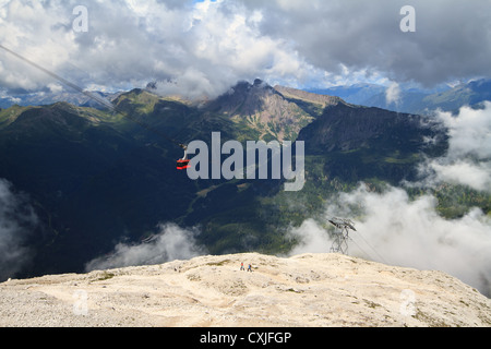 aerial view of primiero Valley, Trentino, Italy - Stock Photo