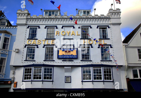 Royal Castle Hotel Dartmouth Devon England. - Stock Photo