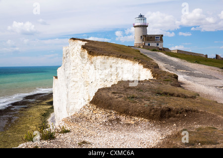 Belle Tout Lighthouse at Beachy Head near Eastbourne East Sussex, England UK - Stock Photo