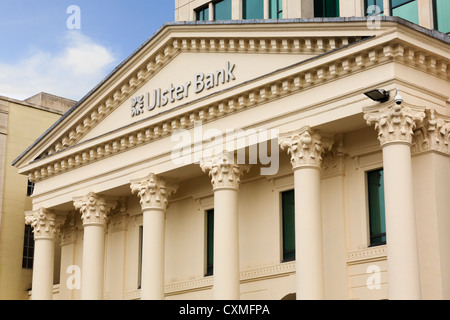 Ulster Bank building in Donegall Square, Belfast city, County Antrim, Northern Ireland, UK - Stock Photo