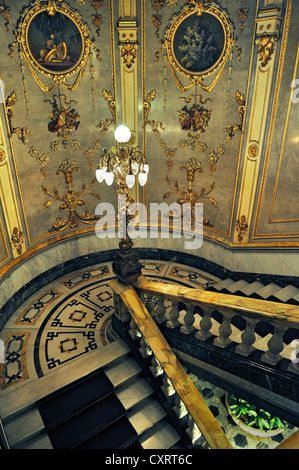 Staircase, National Theatre, San Jose, Costa Rica, Central America - Stock Photo