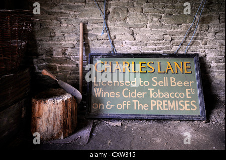 Re. The sale of The Sun Inn in Leintwardine, Herefordshire following the death of proprietor Florence Lane in June - Stock Photo