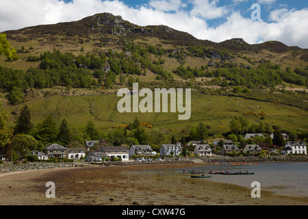 Canoeists on Loch Goil at Lochgoilhead, Argyll, Scotland - Stock Photo