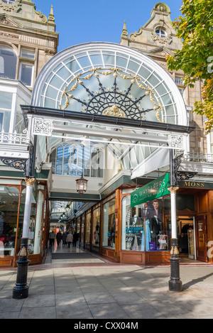 The Wayfarers Arcade in Lord Street, Southport Merseyside. - Stock Photo