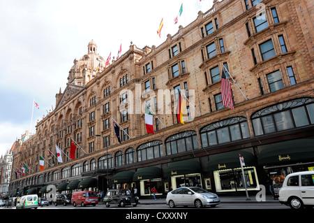 Harrods luxury department store, London, England, United Kingdom, Europe - Stock Photo