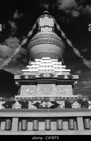 The new Stupa at Tabo, Spiti, Northern India - Stock Photo