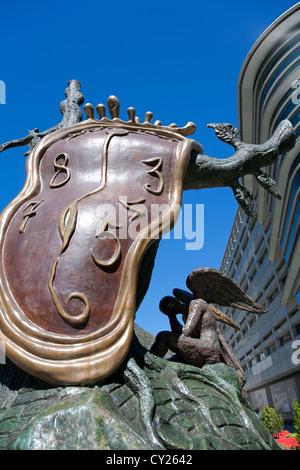 'La Noblesse du Temps' sculpture (1977) Artist: Salvador Dali Andorra La Vella. Andorra - Stock Photo