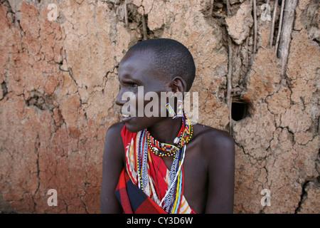 Maasai tribe in Kenya - Stock Photo