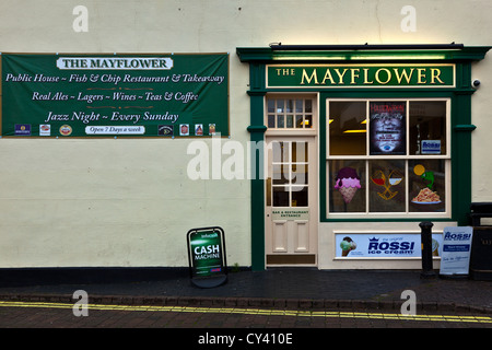 Mayflower Fish & Chip Shop, Old Leigh - Stock Photo