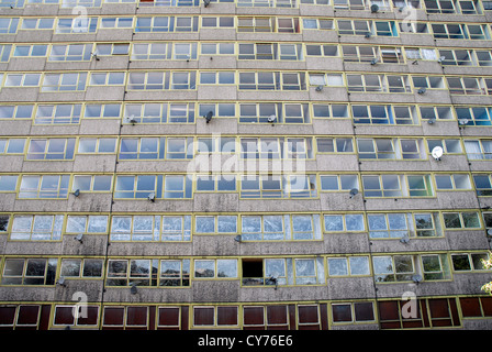 Heygate housing estate in Elephant and Castle prior to demolition. The residents of the 1974 built estate were rehoused.London - Stock Photo