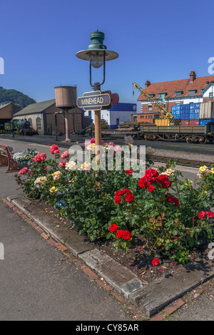 The West Somerset Railway, Minehead Station Somerset in England - Stock Photo