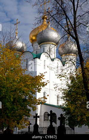 Cathedral of Our Lady of Smolensk at Novodevichy Convent, Moscow - Stock Photo