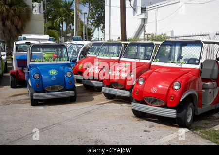 electric car rentals for hire key west florida usa - Stock Photo