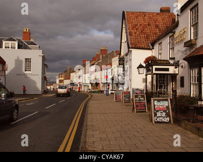 On the street in Thornbury, South Gloucestershire, England, UK - Stock Photo