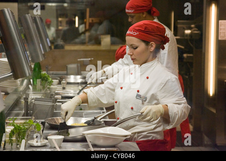 europe, switzerland, zurich, sihlcity commercial center, restaurant, oriental food - Stock Photo
