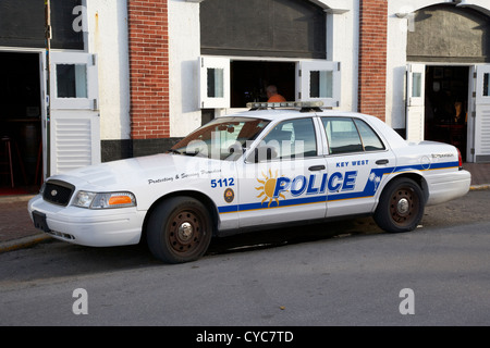 key west police patrol squad car key west florida usa - Stock Photo