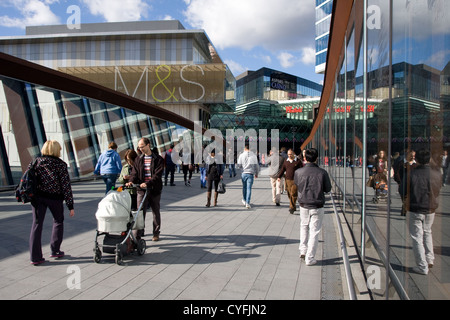 urban renewal regeneration Stratford London - Stock Photo