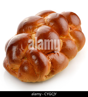 Fresh Loaf Of Bread On White Background - Stock Photo