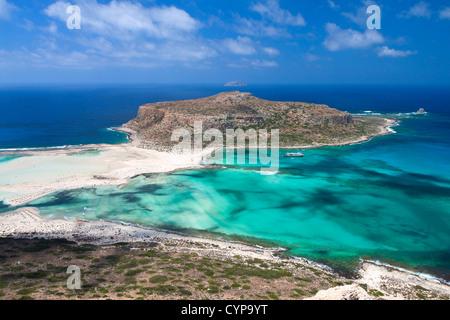 Landscape of Balos beach at Crete island in Greece - Stock Photo