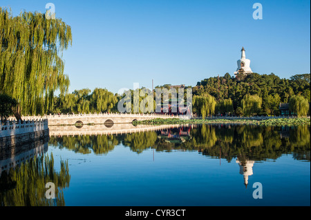 Scene of Beihai park, Beijing - Stock Photo