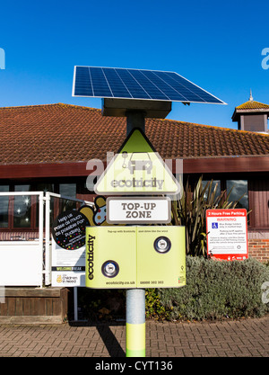 Ecotricity electric car charging point in Taunton Dean Services on the M5, Somerset, England - Stock Photo