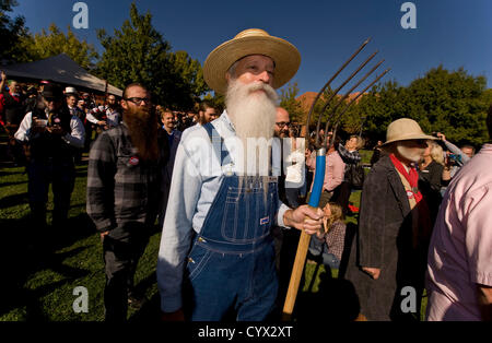 Nov. 11, 2012 - Las Vegas, Nevada, US - Participants march toward the stage during opening ceremonies of the 3rd - Stock Photo
