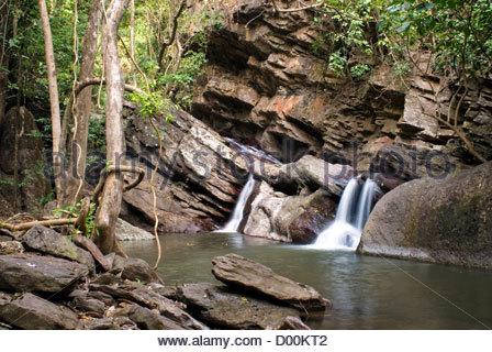 Sai Rong Waterfall near Sukhothai, Thailand | Sai Rong Wasserfall nahe Sukhothai, Thailand - Stock Photo