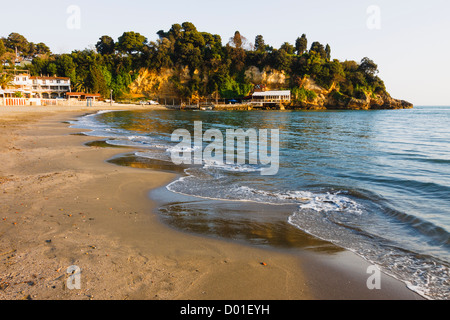 Mala plaza beach in Ulcinj, Montenegro - Stock Photo