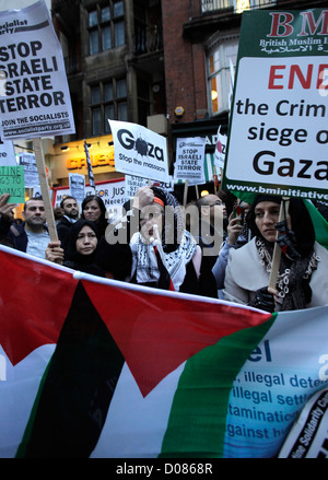 © Rich Bowen Photography. 17/11/2011. London, U.K. British muslims and supporters of palestine hold a rally  in - Stock Photo