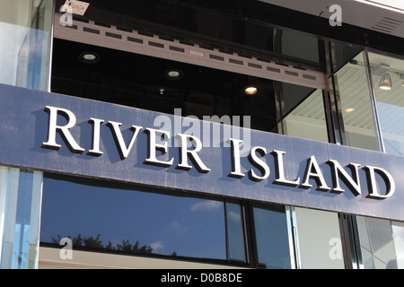 River Island store signage - Stock Photo