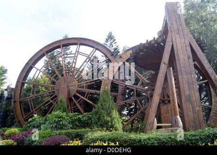 Giant wind pulley, the China folk culture village in shenzhen, China. - Stock Photo