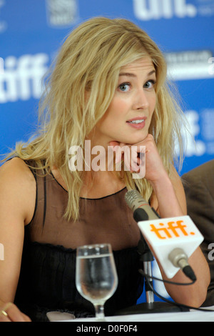 Rosamund Pike The 35th Toronto International Film Festival - 'Barney's Version' - press conference held the Hyatt - Stock Photo