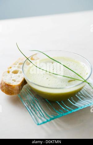 Greenpea soup - Stock Photo