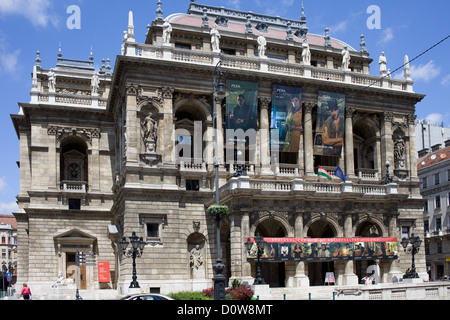 Budapest Opera House Neo-Renaissance architecture, Hungary. - Stock Photo