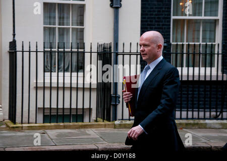 3 December 2012, London; Foreign Secretary, William Hague MP leaves 10 Downing Street following the summons to the - Stock Photo