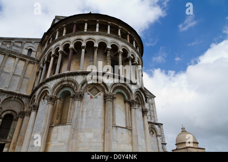 The West Facade of the Cathedral Santa Maria Assunta in Pisa, Tuscany, Italy - Stock Photo