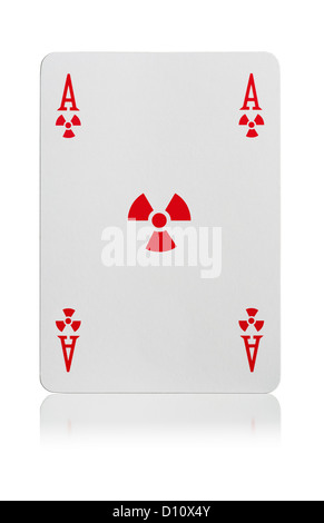 Ace of Radiation playing card - Stock Photo