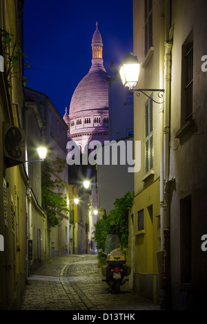The Basilica of the Sacred Heart of Paris, commonly known as Sacré-Cœur Basilica, in Paris, France - Stock Photo