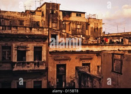 Havana, Cuba, view over the old city of Havana - Stock Photo