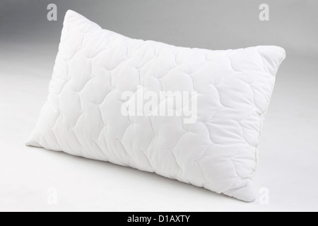 Hygienic pillow anti dust mite and sweat smell isolated - Stock Photo