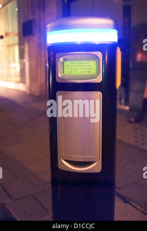 A street electric car charging point provided by Transport for London - Stock Photo