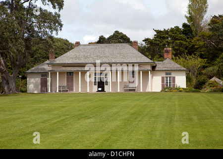 Waitangi Treaty House, Paihia, north island, New Zealand. - Stock Photo