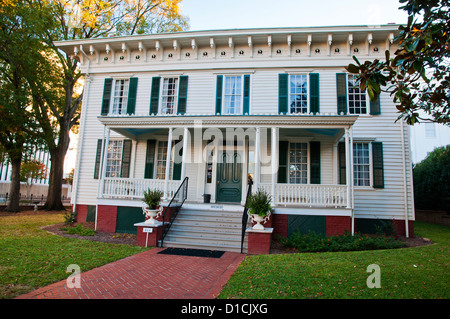The First White House of the Confederacy, Montgomery, Capital of the U.S. state of Alabama, USA - Stock Photo