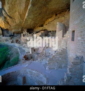 Mesa Verde National Park, Colorado, USA - Cliff Palace, an Ancestral Puebloan aka Anasazi Dwelling and Ruins, Kiva - Stock Photo