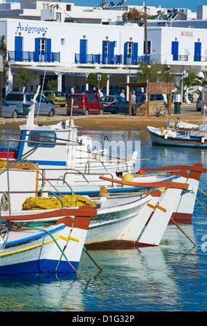 Port, Kastro, Antiparos, Paros, Cyclades, Aegean, Greek Islands, Greece, Europe - Stock Photo