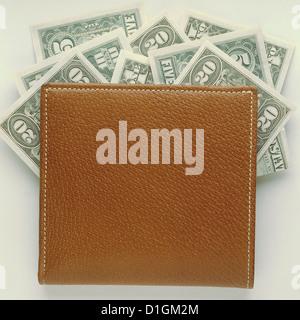 Dollar money wallet - Stock Photo
