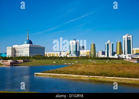 View of city, Astana, Kazakhstan, Central Asia, Asia - Stock Photo