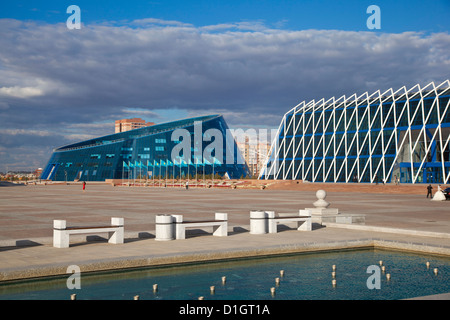 Shabyt Palace of Arts and Palace of Independence, Astana, Kazakhstan, Central Asia, Asia - Stock Photo
