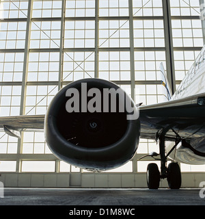 Black and White Jet Engine Aircraft License free except ads and billboards - Stock Photo